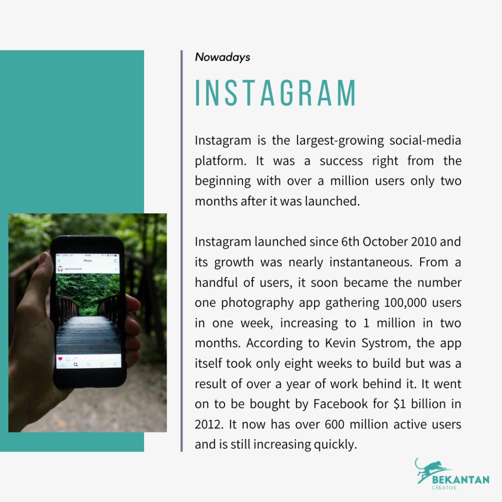 the history of instagram bekantan tales article by bekantan creative agency jakarta pusat indonesia
